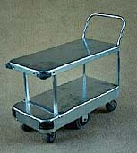 2 Tier (Double Deck) 6 Wheel Trolley