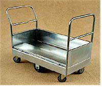 TS/090 - Single Deck Double Ended Stock Trolley with Drop Down Sides