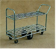 TS/035 - Double Deck Double Ended Tubular Stock Trolley