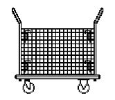 """NF"" Series Wire Bin Trolley"