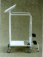 TS/214 Two Tub Trolley with Clipboard and Step